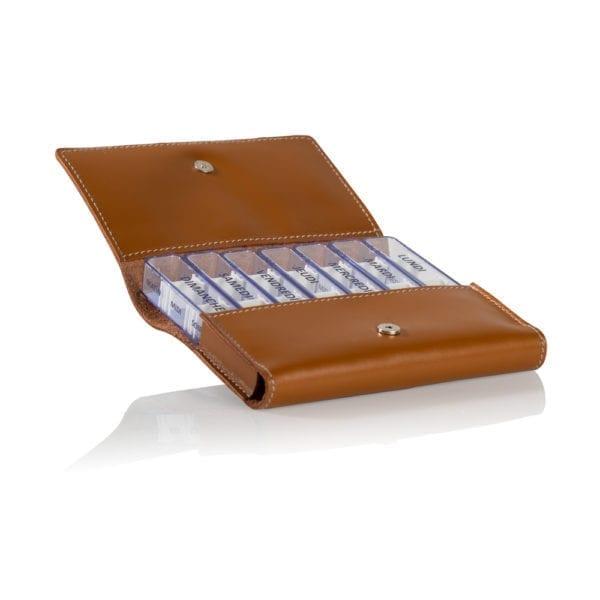 medidose-pillulier-hebdomadaire-cuir-marron